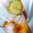 Two glass of soft drinks — Stock Photo