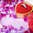 Ring to propose your love in valentine day - Stock Photo