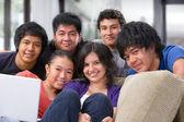 Multi ethnic friendship — Stock Photo