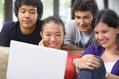 Group of student watching the laptop — Stock Photo