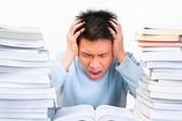 Stress in study — Stock Photo