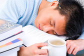 Tired in study — Stock Photo