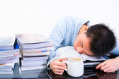 Sleep when study — Stock Photo