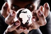 Continente de áfrica e europa — Fotografia Stock