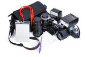 Photojournalism equipment — Stock Photo