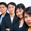 Stock Photo: Asian business line up