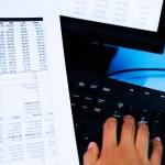 Checking financial data — Stock Photo