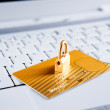 Security concept for online transaction — Stock Photo