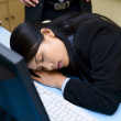 Caught up sleeping in office — Stock Photo #11076451