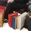 Shopping series - sitting — Stock Photo