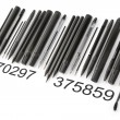 Writing tools barcode from side - Stock Photo