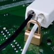 Secure connection and unsecure one concept - Stockfoto