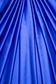 Blue satin curtain pattern — Stock Photo