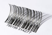 Eyelash shaped barcode — Stock Photo