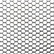 Beehive pattern with diagonal perspective — Stock Photo
