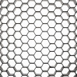 Beehive pattern in circular perspective - Stock Photo