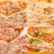Close up pizzas - Stock Photo