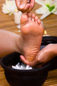 Cleansing - foot reflexology — Stock Photo
