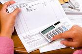 Bills calculation — Stock Photo
