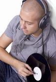 Deejay enjoying music — Stock Photo