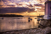 Sunset in Saint-Gilles — Stock Photo