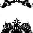Collection of two different carnival Venetian masks background silhouette — Stock Vector