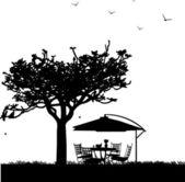 Garden furniture — Stock Vector
