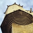 Stone gargoyles protecting The Popes&amp;#039; Palace in Avignon, France - Stock Photo