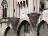 Detail of the famous Palais des Papes, Avignon, France — Stock Photo