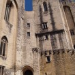 The Popes' palace in Avignon during the Festival — Stock Photo