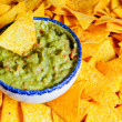 Stock Photo: Nacho chips and guacamole
