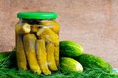 Homemade pickles — Stock Photo