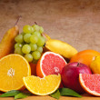 Colorful group of fruits — Stock Photo
