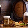 Stock Photo: Beer and traditional food