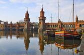 Oberbaum bridge in berlin — Stock Photo