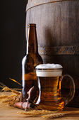 Beer mug and bottle — Stock Photo