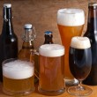 Various beer drinks - Stock Photo
