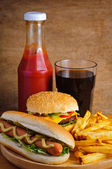 Fast-food — Fotografia Stock