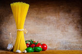 Italian pasta still life — Stock Photo