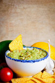 Avocado guacamole dip — Stock Photo