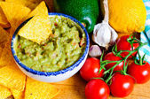 Avocado guacamole ingredients — Stock Photo