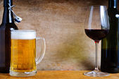 Beer and wine — Stock Photo