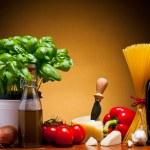 italiensk mat mat — Stockfoto