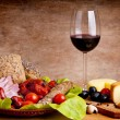 Traditional food and wine — ストック写真
