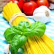 Spaghetti still life — Stock Photo