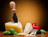 Parmesan italian cheese — Stock Photo