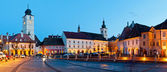 Sibiu city center panorama — Stock Photo