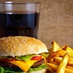 Cheeseburger menu — Stock Photo #11021620