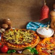 Traditional pizza ingredients — Stock Photo