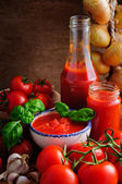 Tomato sauce still life — Stock Photo